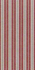 13. Toile Stripe Red Cotton
