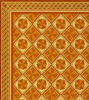 1.Parquet Wood Floor with Border