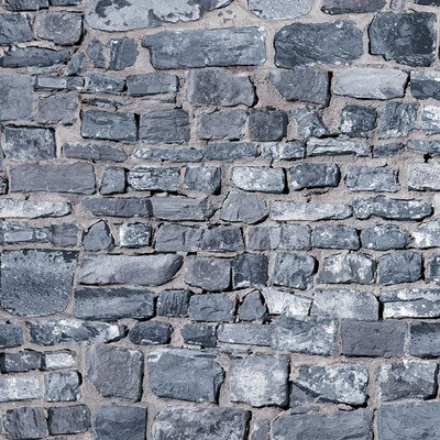 Embossed Grey Stone Wall