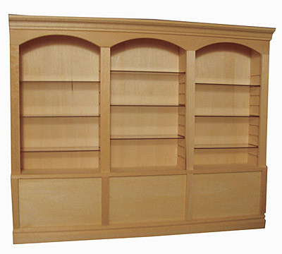 Deluxe Triple Display Cabinet with Clear Shelves